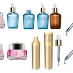 skincare bottles